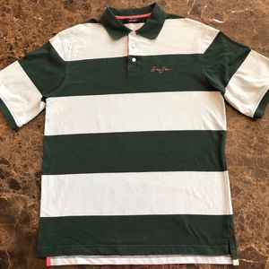SEAN JOHN Polo stripe shirt size Large
